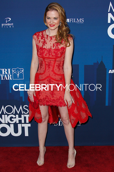 "HOLLYWOOD, LOS ANGELES, CA, USA - APRIL 29: Sarah Drew at the Los Angeles Premiere Of TriStar Pictures' ""Mom's Night Out"" held at the TCL Chinese Theatre IMAX on April 29, 2014 in Hollywood, Los Angeles, California, United States. (Photo by Xavier Collin/Celebrity Monitor)"