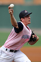 Starting pitcher Teddy Stankiewicz (19) of the Greenville Drive in a game against the West Virginia Power on Sunday, May 11, 2014, at Fluor Field at the West End in Greenville, South Carolina. Stankiewicz was a 2nd Round pick of the Boston Red Sox in the 2013 First-Year Player Draft. He is Boston's No. 19 prospect, according to Baseball America. Greenville won, 9-6. (Tom Priddy/Four Seam Images)