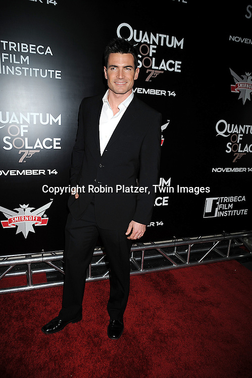 """Aiden Turner, actor on All My Children..at The Tribeca Film Institute Benefit Screening of """"Quantum of Solace"""" movie screening on November 11, 2008 at AMC Lincoln Square Theatre. The movie stars DAniel Craig and Jeffrey Wright. ....Robin Platzer/Twin Images"""