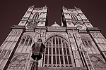 Main Facade of Westminster Abbey Church in London