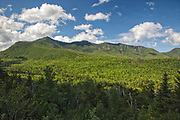 Osceola Mountain Range from a pulloff along the Kancamagus Highway (route 112) in the White Mountains, New Hampshire. Kancamagus Highway is one of New England's scenic byways.