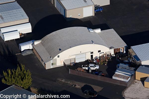 aerial photograph of Quonset Hangar, Lampson Field airport (1O2), Lakeport, Lake County, California