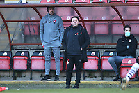 Leyton Orient manager Ross Embleton during Leyton Orient vs Forest Green Rovers, Sky Bet EFL League 2 Football at The Breyer Group Stadium on 23rd January 2021