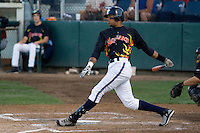 August 14, 2007: Outfielder Gregory Halman of the Everett AquaSox follows through after taking a swing at a pitch during a Northwest League game at Everett Memorial Stadium in Everett, Washington.