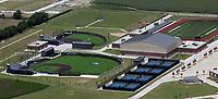 aerial photograph of Rock Hill High School, Frisco,  Texas