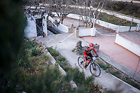 Chelva, SPAIN - MARCH 6: Francisco Jose Montero during Spanish Open BTT XCO on March 6, 2016 in Chelva, Spain