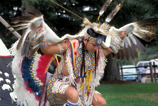 Eagle Dancer, Vincent Davis (Hopi-Choctaw) demonstrates the beautiful eagle dance of the Southwest pueblos with graceful swoops using eagle feather wings