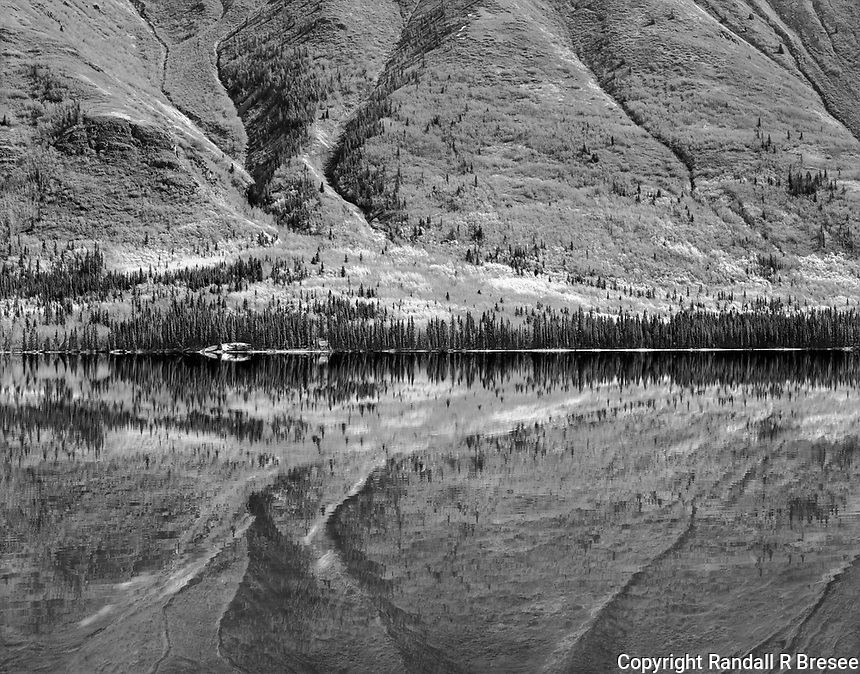 """""""Annie Lake"""" <br /> Yukon Territory, Canada<br /> <br /> Canada's Yukon Territory overflows with natural beauty and a drive to Annie Lake rewards visitors with spectacular scenery. This black and white photo was recorded in May 2016."""