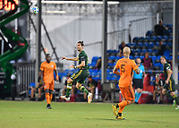 LAKE BUENA VISTA, FL - JULY 18: Diego Valeri #8 of the Portland Timbers watches his header during a game between Houston Dynamo and Portland Timbers at ESPN Wide World of Sports on July 18, 2020 in Lake Buena Vista, Florida.
