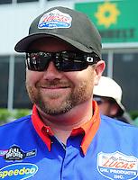 May 1, 2011; Baytown, TX, USA: NHRA top fuel dragster driver Shawn Langdon during the Spring Nationals at Royal Purple Raceway. Mandatory Credit: Mark J. Rebilas-