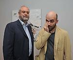 UMBERTO CROPPI E ROBERTO SAVIANO<br /> MOSTRA TULLIO PERICOLI     ARA PACIS ROMA 2010