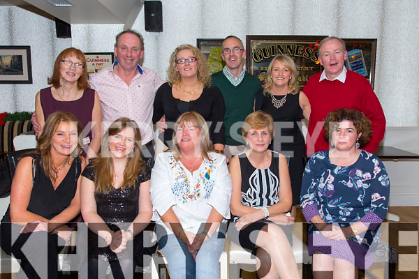 Holy Family Staff Christmas Party at the Brogue on Friday.  Front l-r Anna Marie Allen, Alannah Moriarty, Phil Moriarty, Maureen Murphy, Rebecca Harrington. Back l-r Mairead Maugh, Ed O'Brien, Michelle O'Sullivan, Pat O'Connor, Alice Carmody, Francis Quill