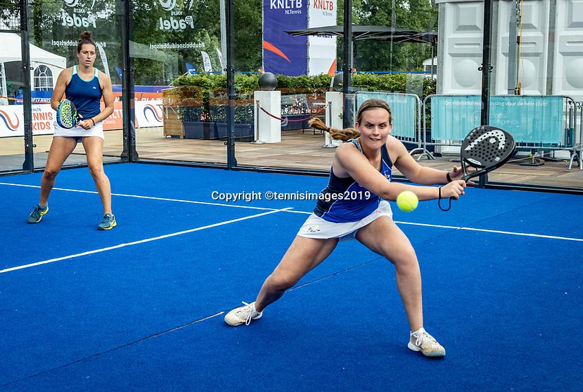 Rosmalen, Netherlands, 15 June, 2019, Tennis, Libema Open, NK Padel, Final Padel womans double: Rosalie van der Hoek (L) and Tess van Dinteren (NED)<br /> Photo: Henk Koster/tennisimages.com