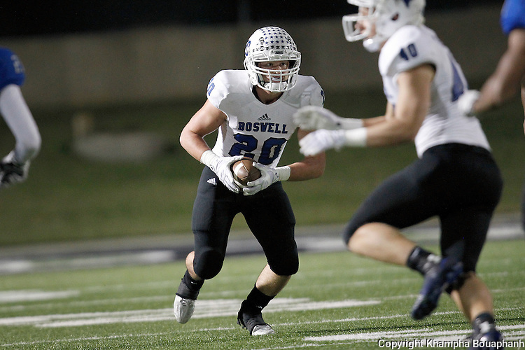 Boswell plays Burleson Centennial at Dragon Stadium in Southlake on Friday, November 20, 2015.