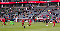 CARSON, CA - FEBRUARY 9: Canada warming up during a game between Canada and USWNT at Dignity Health Sports Park on February 9, 2020 in Carson, California.