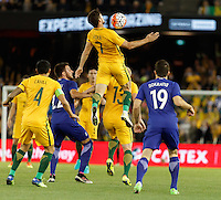 June 7, 2016: MATTHEW LECKIE (7) of Australia controls the ball during an international friendly match between the Australian Socceroos and Greece at Etihad Stadium, Melbourne. Photo Sydney Low