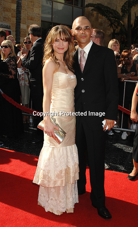 Rebecca Herbst and husband Michael Saucedo ..arriving at The 34th Annual Daytime Emmy Awards on ..June 15, 2007 at The Kodak Theatre in Hollywood, California. ..Robin Platzer, Twin Images......212-935-0770