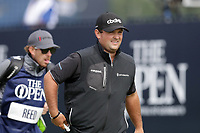 16th July 2021; Royal St Georges Golf Club, Sandwich, Kent, England; The Open Championship Tour Golf, Day Two; Patrick Reed (USA) walks from the tee at the 1st hole