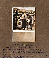 BNPS.co.uk (01202 558833)<br /> Pic: ForumAuctions/BNPS<br /> <br /> The church in which Henchard and his wife Susan were married.<br /> <br /> Extraordinary photo album reveals Thomas Hardy as personal tour guide around his most famous novel.<br /> <br /> A personalised photograph album documenting a guided tour of 'Casterbridge' that novelist Thomas Hardy gave a literary friend has emerged almost 100 years later.<br /> <br /> The famous author showed playwright John Drinkwater the real-life locations that inspired him to write the classic 1886 novel The Mayor of Casterbridge.<br /> <br /> Mr Drinkwater took photographs of various venues that feature prominently in the novel.<br /> <br /> He also captured some of the last images of Hardy who died two years later.