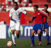 Stefan Jerome controls the ball. The Under-17 US Men's National Team defeated Cuba 5-0 at the 2009 CONCACAF Under-17 Championship April 21, 2009 in Tijuana, Mexico.