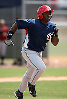 March 22, 2010:  Outfielder Michael Burgess (25) of the Washington Nationals organization during Spring Training at the Carl Barger Training Complex in Melbourne, FL.  Photo By Mike Janes/Four Seam Images