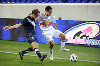 Ross Tetro (17) of the New York Red Bulls. The USMNT U-17 defeated New York Red Bulls U-18 4-1 during a friendly at Red Bull Arena in Harrison, NJ, on October 09, 2010.