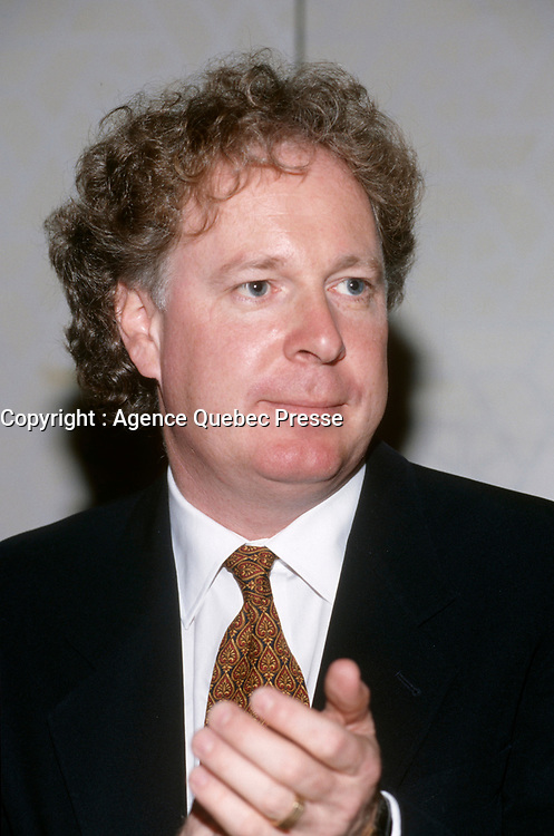 Montreal (Qc) CANADA - 1997 File photo  - Jean Charest,leader of the federal Progressive Conservative Party of Canada (1993-1998)