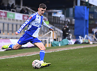 9th January 2021; Memorial Stadium, Bristol, England; English FA Cup Football, Bristol Rovers versus Sheffield United; Zain Westbrooke of Bristol Rovers crosses the ball into the penalty area