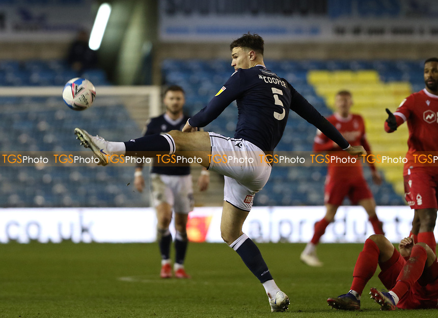 Jake Cooper of Millwall during Millwall vs Nottingham Forest, Sky Bet EFL Championship Football at The Den on 19th December 2020
