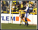06/04/2002                 Copyright Pic : James Stewart .Ref :     .File Name : stewart-alloa v qos   13.MAX CHRISTIE GETS IN FRONT OF DEREK ANDERSON TO HEAD THE BALL HOME TO SCORE ALLOA'S SECOND GOAL.....James Stewart Photo Agency, 19 Carronlea Drive, Falkirk. FK2 8DN      Vat Reg No. 607 6932 25.Office     : +44 (0)1324 570906     .Mobile  : + 44 (0)7721 416997.Fax         :  +44 (0)1324 630007.E-mail  :  jim@jspa.co.uk.If you require further information then contact Jim Stewart on any of the numbers above.........