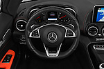Car pictures of steering wheel view of a 2019 Mercedes Benz AMG GT base 2 Door Roadster