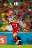 Motion blur of Jordi Alba of Spain