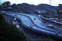 Wellington urban motorway at 7am, Wednesday during Level 4 lockdown for the COVID-19 pandemic in Wellington, New Zealand on Thursday, 19 August 2021.
