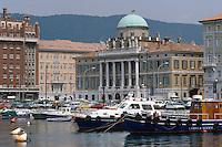 - Trieste, the Great Canal and Sant'Antonio Taumaturgo church....- Trieste, il Canal Grande e la chiesa di Sant'Antonio Taumaturgo