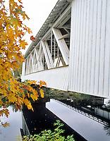 Gilkey Bridge with fall color. Linn County, Oregon