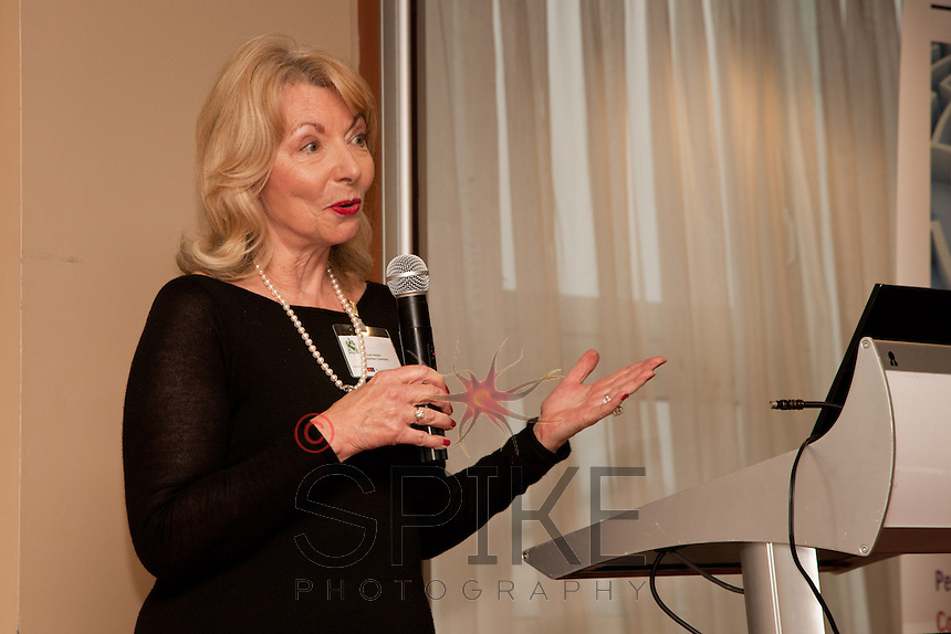 Keynote speaker Judy Naake, chairman of Maggies cancer charity and former owner of St Tropez self-tan