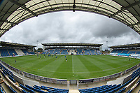 A general view across the pitch before Colchester United vs Oldham Athletic, Sky Bet EFL League 2 Football at the JobServe Community Stadium on 3rd October 2020