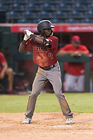 AZL Diamondbacks designated hitter Anfernee Grier (4) at bat during a rehab appearance in an Arizona League game against the AZL Angels at Tempe Diablo Stadium on July 16, 2018 in Tempe, Arizona. The AZL Diamondbacks defeated the AZL Angels by a score of 4-3. (Zachary Lucy/Four Seam Images)