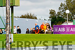 Spectators watch on during the Kerry County Minor Hurling Championship Final match between Ballyduff and Ballyheigue at Austin Stack Park in Tralee, Kerry.