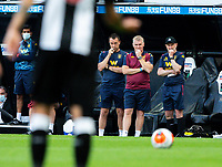 Aston Villa manager Dean Smith (centre) watches on<br /> <br /> Photographer Alex Dodd/CameraSport<br /> <br /> The Premier League - Newcastle United v Aston Villa - Wednesday 24th June 2020 - St James' Park - Newcastle <br /> <br /> World Copyright © 2020 CameraSport. All rights reserved. 43 Linden Ave. Countesthorpe. Leicester. England. LE8 5PG - Tel: +44 (0) 116 277 4147 - admin@camerasport.com - www.camerasport.com