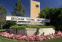 university, mormons, Provo, UT, Utah, Entrance to Brigham Young University in Provo.