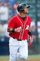 Chris Dominguez #37 of the Richmond Flying Squirrels hustles down the first base line against the Harrisburg Senators in game one of a double-header at The Diamond on July 22, 2011 in Richmond, Virginia.  The Squirrels defeated the Senators 3-1.   (Brian Westerholt / Four Seam Images)