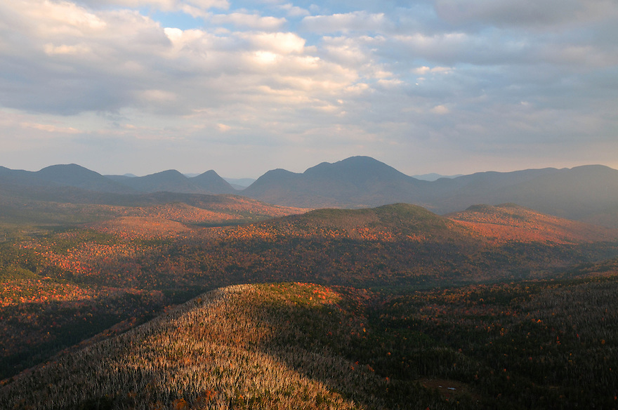 Autumn unfolds across the Zealand Valley and the eastern Pemigewasset Wilderness.