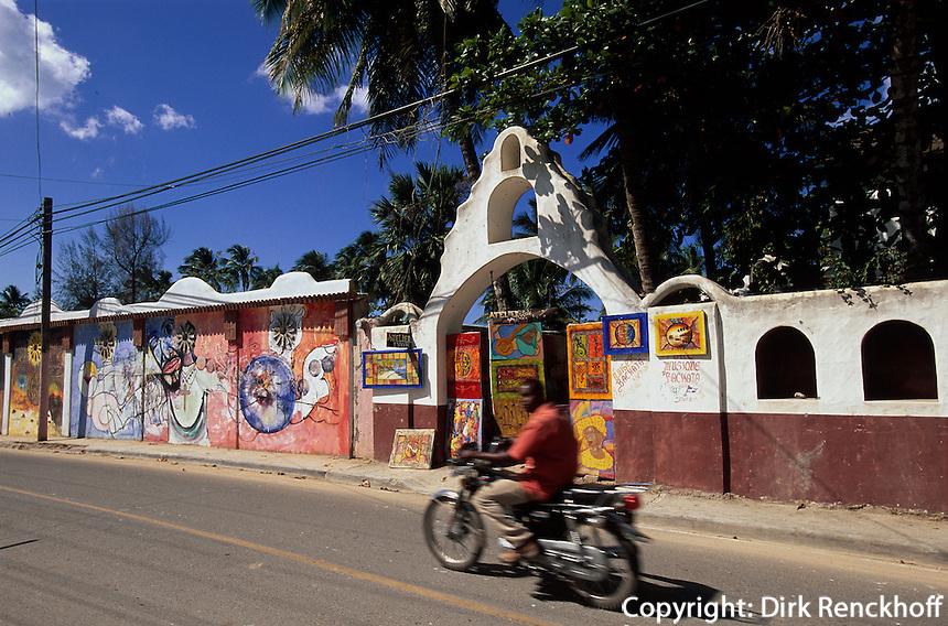 Dominikanische Republik, Kunstgalerie in Las Terrenas auf der Samana-Halbinsel