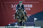 Max Kuhner of Austria riding on Cornet Kalua competes during the EEM Trophy, part of the Longines Masters of Hong Kong on 10 February 2017 at the Asia World Expo in Hong Kong, China. Photo by Juan Serrano / Power Sport Images