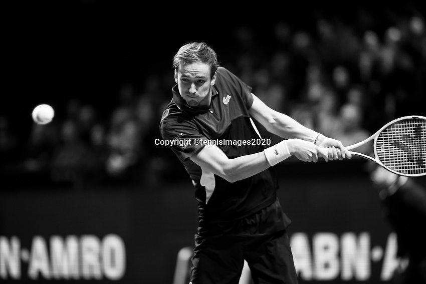 Rotterdam, The Netherlands, 12 Februari 2020, ABNAMRO World Tennis Tournament, Ahoy. Daniil Medvedev (RUS). <br /> Photo: www.tennisimages.com
