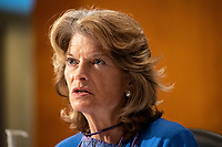 """United States Senator Lisa Murkowski (Republican of Alaska), makes remarks during the US Senate Health, Education, Labor, and Pensions Committee during a hearing titled """"COVID-19: Going Back to School Safely"""" on Capitol Hill in Washington, DC on Thursday, June 4, 2020.  Earlier in the day, Murkowski praised former US Secretary of Defense James Mattis for his statement in """"The Atlantic"""" backing the protestors demonstrating against the wrongful death of George Floyd and saying US President Donald J. Trump is trying to divide Americans.<br /> Credit: Ting Shen / CNP/AdMedia"""