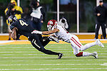 Baylor Bears wide receiver Jay Lee (4) in action during the game between the Oklahoma Sooners  and the Baylor Bears at the McLane Stadium in Waco, Texas.