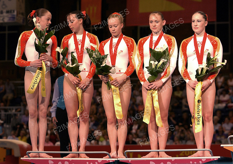 Commonwealth Games Manchester 2002.Mens  and Womens Artistic Gymnastics.Womens Team Finals..Photos by Alan Edwards
