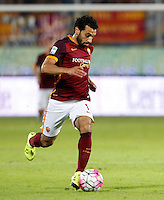 Calcio, Serie A: Frosinone vs Roma. Frosinone, stadio Comunale, 12 settembre 2015.<br /> Roma's Mohamed Salah in action during the Italian Serie A football match between Frosinone and Roma at Frosinone Comunale stadium, 12 September 2015.<br /> UPDATE IMAGES PRESS/Riccardo De Luca